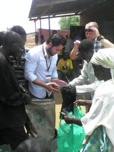 Food distribution in refugee host community