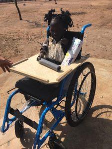 Child with limbs access prosthetics